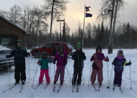 Dot Lake students enjoy cross country skiing