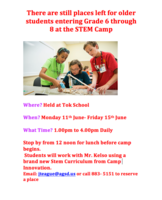 STEM Camp for Grade 6 - 8