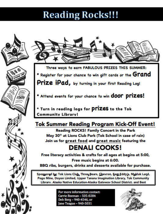 Tok Summer Reading Program