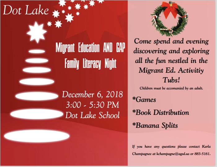 Dot Lake Family Night Information