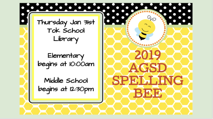 Thursday Jan 31st 2019 Spelling Bee
