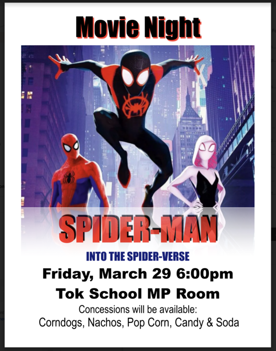 Spider Man MOVIE Friday March 29th